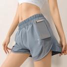 速乾運動褲 女防走光夏季款緊身高彈訓練褲健身高腰提臀瑜伽褲子外穿