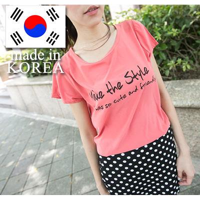 正韓製 Style英文字母清涼材質短袖T恤【U824】☆雙兒網☆ Girl's walk