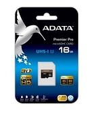 威剛 ADATA Premier Pro 16GB microSDHC UHS-I U1 (金卡)  記憶卡