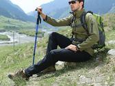戶外登山杖 T型4節伸縮拐杖 徒步爬山拐棍手杖  9號潮人館igo