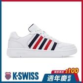 【超取】K-SWISS Court Palisades時尚運動鞋-男-白/藍/紅