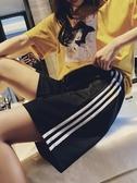 運動短褲女夏寬鬆ins潮外穿跑步韓版休閒高腰bf風中褲直筒五分褲 韓國時尚週