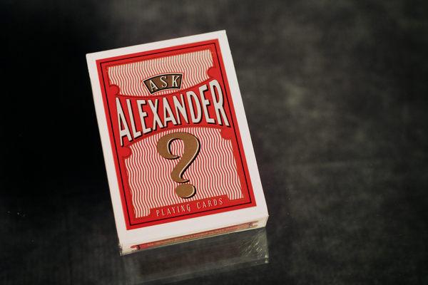【USPCC 撲克】Ask Alexander紀念撲克牌cambric/Ivory
