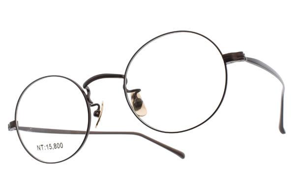 STEADY 光學眼鏡 STDF34 C03 (深棕) 復古簡約圓框款 日本手工眼鏡 # 金橘眼鏡