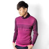 JUN 桃紅條紋毛衣