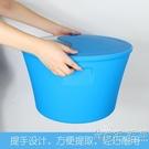 泡腳盆足浴桶塑料保溫沐足桶盆洗腳桶泡腳桶家用按摩足浴盆WD 小時光生活館