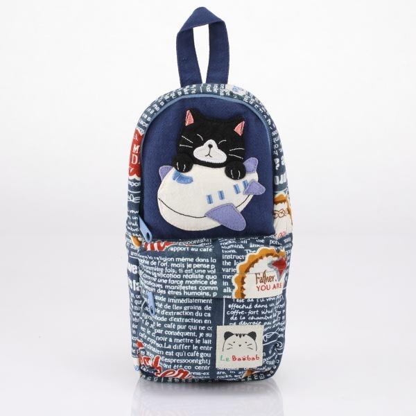 後背包造型筆袋/化妝包/萬用包/拼布包包