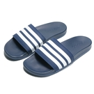 ADIDAS 拖鞋 ADILETTE CLOUDFOAM 海軍藍 白線 軟墊 舒適好穿 男女 (布魯克林) B42114