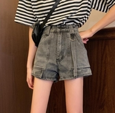 短褲新品復古高腰牛仔褲女百搭直筒褲寬鬆闊腿褲 - 歐美韓熱銷