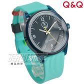 Q&Q SmileSolar 日本機芯 太陽能防水手錶 玩色系列 綠x黑 男錶 女錶 中性錶 RP10J011Y