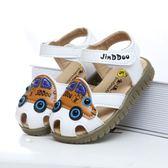 夏季新款包頭兒童涼鞋1-3歲男童牛筋底透氣寶寶涼鞋軟底童鞋 東京衣櫃