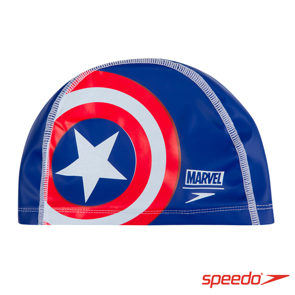 SPEEDO 兒童合成泳帽 Pace 美國隊長【線上體育】SD811307C842