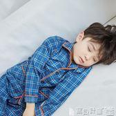 兒童睡衣 兒童睡衣套裝男童春秋款長袖純棉男孩中大童家居服睡衣服