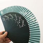 日式櫻花折扇古典工藝扇子中國風真絲鏤空古裝扇