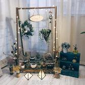 綠蘿吊蘭的花架 實木花架子室內客廳懸掛花盆架陽臺植物裝飾北歐YTL 皇者榮耀
