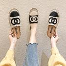 穆勒鞋包頭半拖鞋女夏新款女鞋百搭拖鞋外穿平底穆勒鞋【少女顏究院】