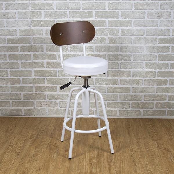 吧台椅/日式吧台椅/吧台桌椅/升降椅/曲木 (白色)MIT台灣製【61201-WH】Tasteful 特斯屋