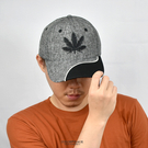 老帽 個性拼接電繡麻葉棒球帽NHA39