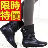 真皮短靴-高雅街頭風氣質低跟女靴子62d70【巴黎精品】