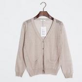 針織外套 短版-簡約百搭V領時尚女亞麻罩衫2色73fb15【巴黎精品】
