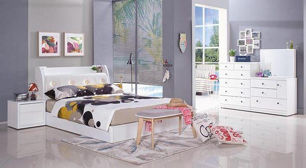 【森可家居】6尺白色床底(6分板) 7JX92-6
