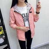 2018秋裝新款女風衣外套學院風長袖韓版學生寬鬆兩面穿薄款短外套  印象家品旗艦店