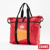 CHUMS 日本 防水托特包 紅/橘 CH602335R052