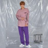 撞色印刷運動褲 STAGE STAGECREW TRACK PANTS 黑色/紫色 兩色