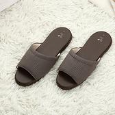 漫遊生活室內皮拖鞋-咖M