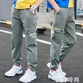 男童褲子夏季薄款兒童防蚊褲中大童速干休閒褲夏裝男孩運動褲長褲 小艾新品