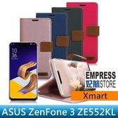 【妃航】Xmart ASUS ZenFone 3 ZE552 度假浪漫風 撞色 磁扣/插卡/翻蓋/站立 皮套/保護套