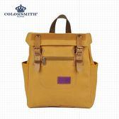 【COLORSMITH】MO.輕巧質感方形後背包.MO1325-YC-XS
