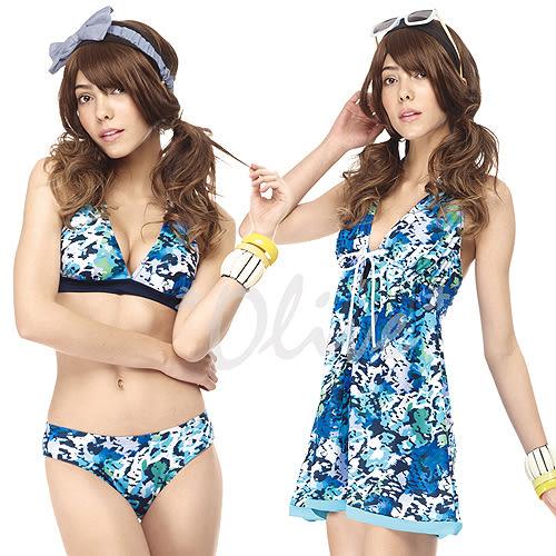 ☆小薇的店☆MIT聖手品牌夏日海洋彩繪風三件式比基尼泳裝特價990元 NO.A93413(M-XL)