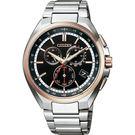 【送米奇電扇】CITIZEN 星辰 限量 鈦 日本國家橄欖球隊電波錶-玫瑰金圈/41.5mm CB5044-62E