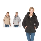 【SAMLIX 山力士】女 美國PRIMALOFT時尚有型超輕暖保溫棉外套(#37611卡其色.灰色.黑色)