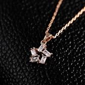 項鍊 玫瑰金 水晶純銀吊墜-小星星簡約生日情人節禮物女飾品73dw125【時尚巴黎】