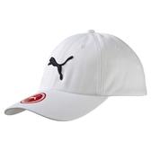 PUMA 基本款 大LOGO 白 棒球帽 男女皆可帶 可調 魔鬼氈 (布魯克林) 05291902