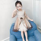 女童連身裙春裝韓版洋氣童裝2018新款兒童紗裙夏裝公主裙女孩裙子 桃園百貨
