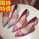 尖頭鞋休閒簡單-自信簡約真皮高跟女鞋子2色58l5【巴黎精品】