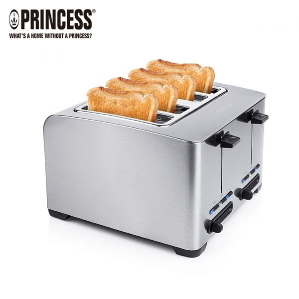 【PRINCESS|荷蘭公主】不鏽鋼四片烤吐司機 142397+ART01