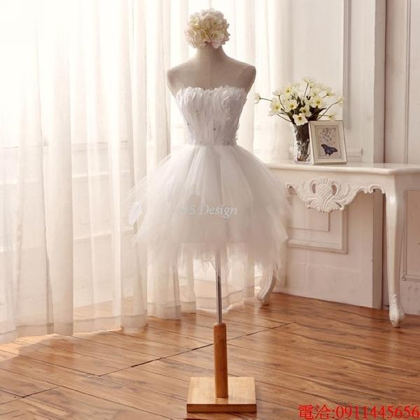 (45 Design)  7天到貨 禮服婚紗晚禮服短款晚宴年會 結婚小禮服短裙 大小顏色款式都能訂製9