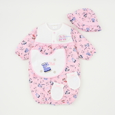 【愛的世界】純棉鋪棉兩用嬰衣禮盒/3~6個月-台灣製- ★禮盒推薦