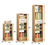 書架落地簡約客廳收納創意小書柜臥室簡易實木色置物架學生省空間WJ - 風尚3C