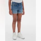 Gap女童時尚水洗做舊牛仔短褲539986-中度水洗