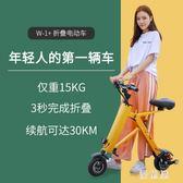 可折疊式電動滑板車 成人超輕便攜迷你電瓶車小型兩輪代步神器女性 BT9613『優童屋』