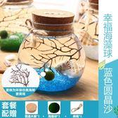 海藻球生態瓶迷你盆栽球藻微景觀玻璃瓶marimo辦公桌擺件生態球【新店開張八八折下殺】