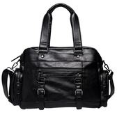 韓版商務手提包潮流時尚男側肩包大容量斜挎包《印象精品》r455