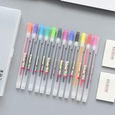 【BlueCat】Begins磨砂霧面筆管 盒裝12色 中性筆 便條紙組