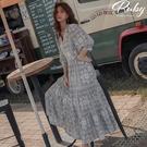 洋裝 RCha。度假風層次七分袖長洋裝-Ruby s 露比午茶