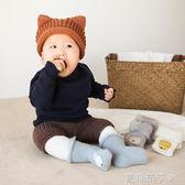 18年秋冬新款加絨加厚寶寶襪子卡通高筒嬰兒襪0-1-2-3歲兒童襪子 焦糖布丁 一米陽光